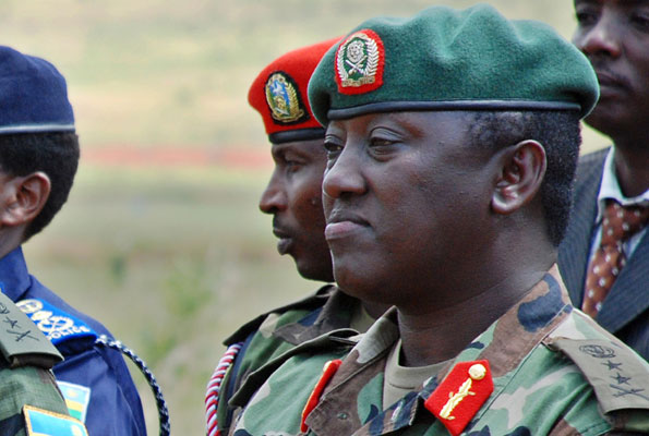 British police arrested Gen Karenzi at Heathrow Airport